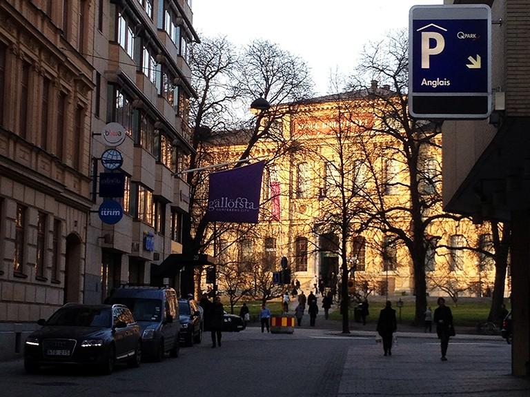 Kungliga Biblioteket i kvällsol