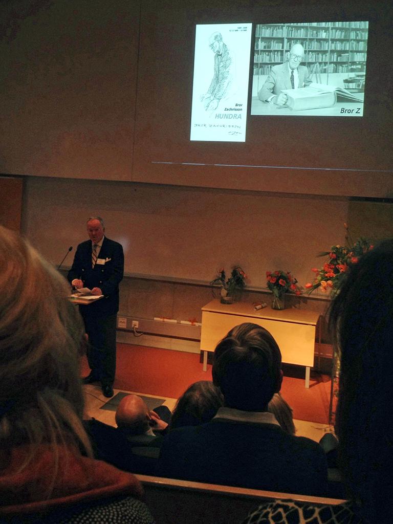 Björn Zachrisson berättar om Bror Zachrisson, grundaren Grafiska institutet och initiativtagare till Svensk Bokkonst.