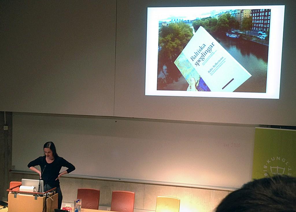Stefania Malmsten berättar om arbetet med boken Baltiska speglingar.